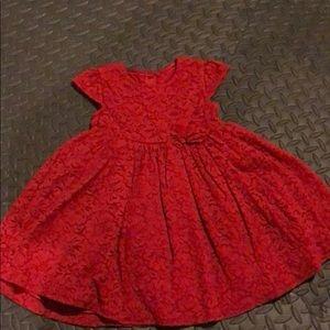 Little girls lace party dress